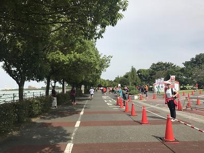 ベジタブルマラソンin彩湖レース中写真