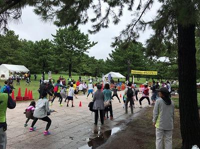 第1回横浜(YOKOHAMA)ビーチサイドマラソン開会式体操