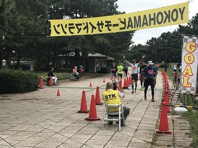 第1回横浜(YOKOHAMA)ビーチサイドマラソンゴール付近