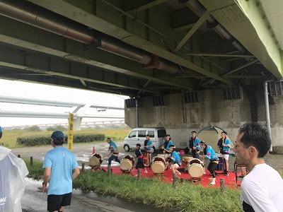 第46回タートルマラソン国際大会和太鼓の応援