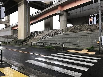 葛飾ふ~てんマラソン会場へのルート最後の横断歩道