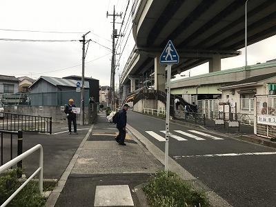 東京トライアルハーフマラソン2017四ツ木駅からのルート