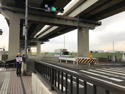東京トライアルハーフマラソン2017四ツ木駅から会場までのルート