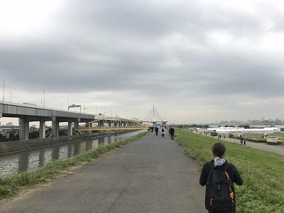 東京トライアルハーフマラソン2017会場手前