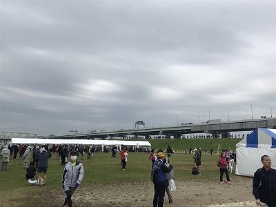 東京トライアルハーフマラソン2017スタート1時間前