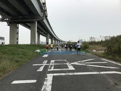 東京トライアルハーフマラソン2017レース中写真