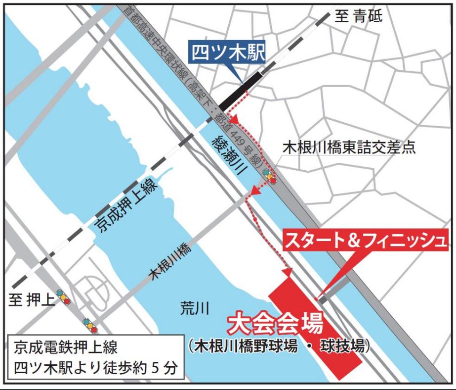 東京トライアルハーフマラソン会場までのアクセス