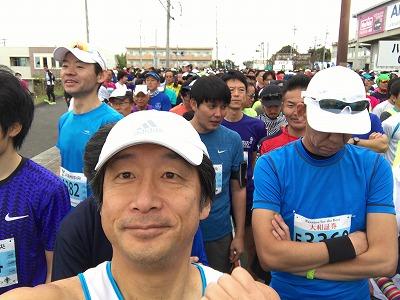 ジュビロ磐田メモリアルマラソンスタートの整列自撮り