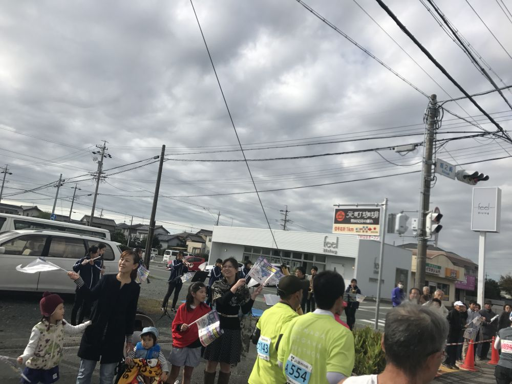 ジュビロ磐田メモリアルマラソンブラスバンド応援