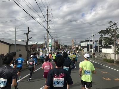 ジュビロ磐田メモリアルマラソンスタート10分後