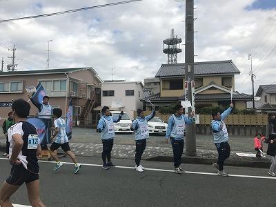 ジュビロ磐田メモリアルマラソン選手の応援