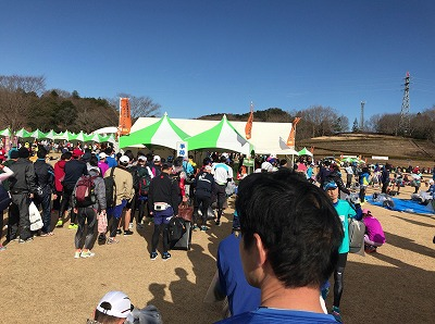 第12回かさま陶芸の里ハーフマラソン大会荷物置き場