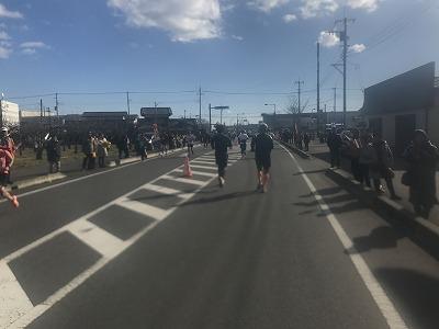 第12回かさま陶芸の里ハーフマラソン大会レース後半