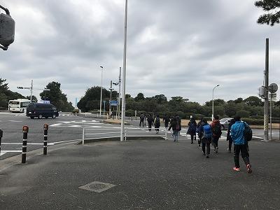第1回谷川真理クリスマスマラソン稲毛海浜公園バス停