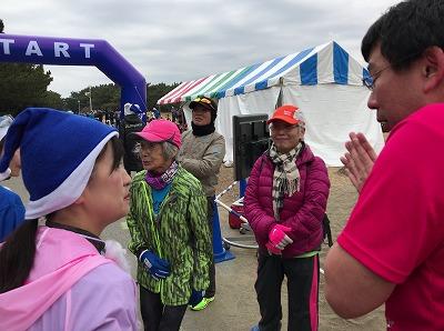 第1回谷川真理クリスマスマラソン中野陽子さん82歳