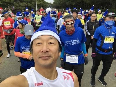 第1回谷川真理クリスマスマラソン自撮り