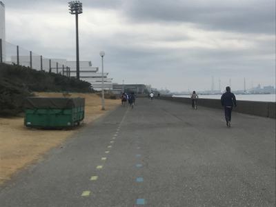第1回谷川真理クリスマスマラソンハーフマラソンスタート10分後