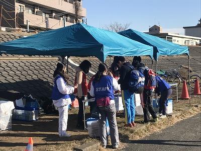 第2回UP RUN(アップラン)綱島鶴見川ウインターマラソン受付