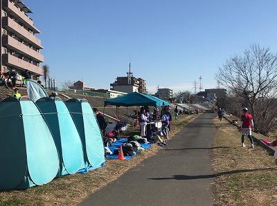 第2回UP RUN(アップラン)綱島鶴見川ウインターマラソン更衣室
