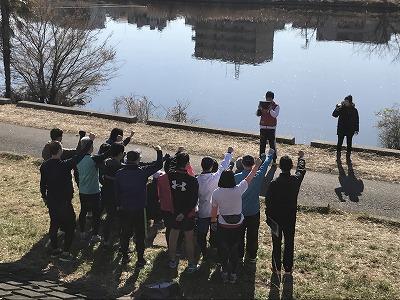 第2回UP RUN(アップラン)綱島鶴見川ウインターマラソンハーフマラソン記念撮影