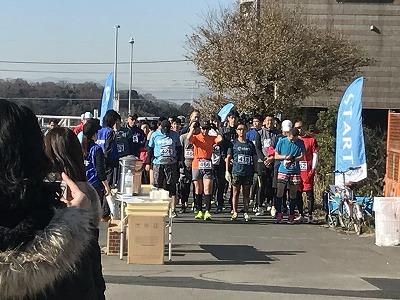 第2回UP RUN(アップラン)綱島鶴見川ウインターマラソンハーフマラソンスタート