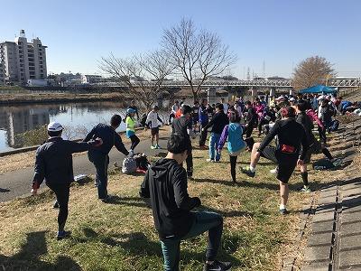 第2回UP RUN(アップラン)綱島鶴見川ウインターマラソン15キロ体操