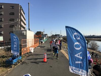 第2回UP RUN(アップラン)綱島鶴見川ウインターマラソンスタートライン