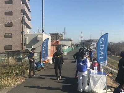 第2回UP RUN(アップラン)綱島鶴見川ウインターマラソンゴール