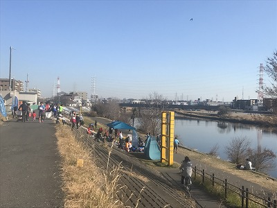 第2回UP RUN(アップラン)綱島鶴見川ウインターマラソン会場全景