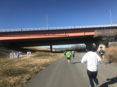 第19回ハイテクハーフマラソンスタート7キロ