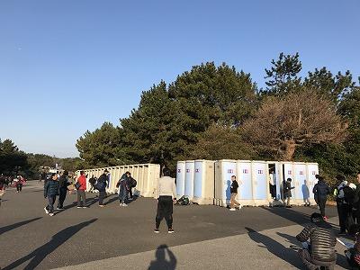 第42回サンスポ千葉マリンマラソン会場トイレ