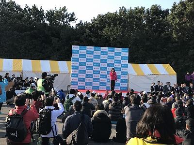 第42回サンスポ千葉マリンマラソン開会式高橋尚子さん
