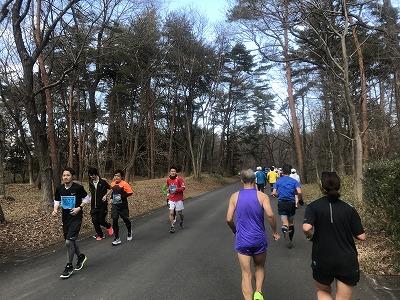 第43回森林公園完走マラソンハーフスタート2キロ地点