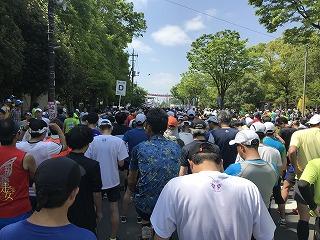 第31回春日部大凧マラソンスタート前