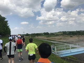 第31回春日部大凧マラソンハーフのレース中