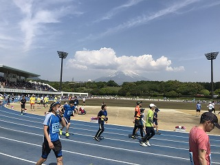 富士裾野高原マラソン大会スタート前