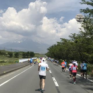 富士裾野高原マラソン大会レース中
